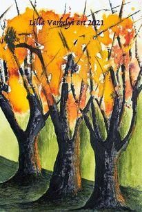 Herbst, Oktober, Landschaft, Baum