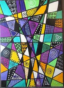 Zeichnung, Bilderrahmen, Acrylmalerei, Abstrakt