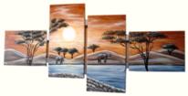 Acrylmalerei, Landschaft, Afrika, Glamour