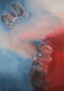 Pigmente, Piccolo, Merletto, Hellblau abstrakt