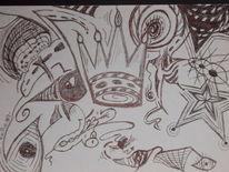 Pilze, Fantasie, Stern, Abstrakt