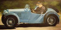 Auto, Oldtimer, Acrylmalerei, Malerei