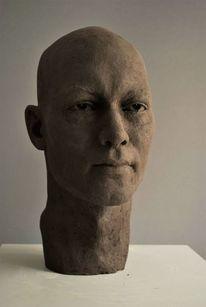 Ton, Clay, Portrait bust, Terrakotta