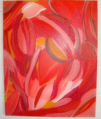 Orange, Schwingen, Rot, Malerei