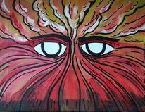 Feuer, Augen, Auflösen, Energie