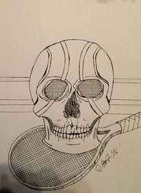 Ball, Tennis, Schädel, Knochen