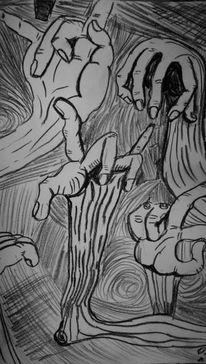 Hand, Finger, Verdrehen, Pinnwand