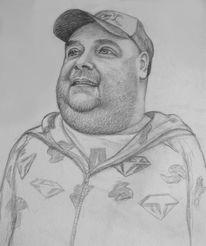 Zeichnung, Dirk bach, Portrait, Zeichnungen