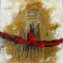 Tuschmalerei, Cumdeoetdie, Haptisch, Struktur