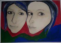 Karikatur, Portrait, Zeichnung, Bleistiftzeichnung