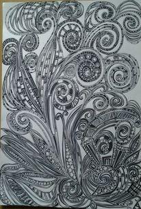 Schwarz weiß, Fantasie, Zeichnungen,
