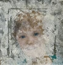 Kind, Nebelschleier, Augen, Fenster