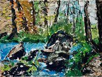 Bach, Wald, Natur, Landschaft