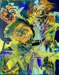 Struktur, Farben, Blumen, Malerei