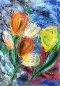 Blumen, Tulpen, Kelch, Malerei
