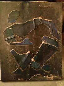 Lederflecken, Dunkel, Japanischer ritus, Malerei
