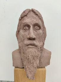 Rasputin, Kopf, Kleinplastik, Töpferei