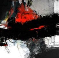 Rot schwarz, Fläche, Abstrakt, Ocker