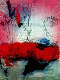 Bildbearbeitung, Fantasie, Linie, Rot schwarz