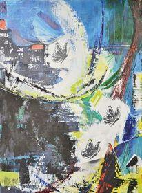 Dynamik, Spachteltechnik, Acrylmalerei, Modern