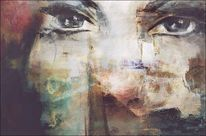 Augen, Blick, Gesicht, Digitale kunst