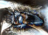 Augen, Iris, Sehen, Wimpern