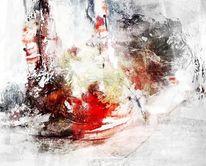 Mischtechnik, Abstrakt, Linie, Acrylmalerei