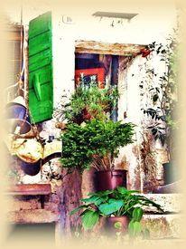 Kroatien, Hinterhof, Fensterläden, Vergänglichkeit