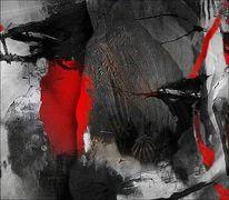 Fläche, Formen, Rot schwarz, Linie