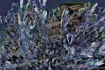 Verborgen, Meer, Abstrakt, Blau