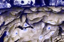 Zweig, Troll, Winter, Blaue stunde