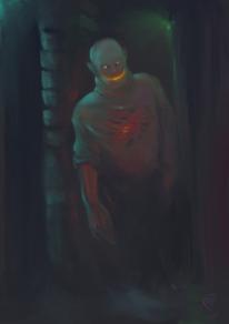 Monster, Dämon, Keller, Digitale kunst