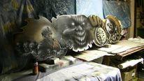 Graffiti, Sprühdose, Airbrush, Malerei