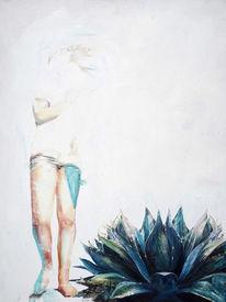 Pflanzen, Nebel, Agarve, Mädchen