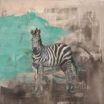 Street art, Zebra, Pferde, Streetart
