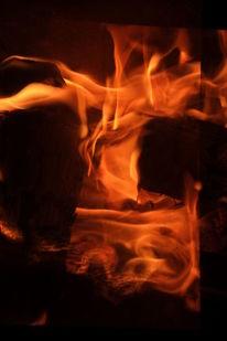Feuer, Wesen, Doppelbelichtung, Fotografie