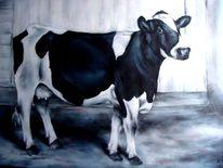 Kuhportrait, Kuh, Malerei,
