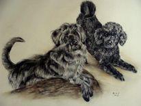 Hundeportraits, Malerei, Freunde
