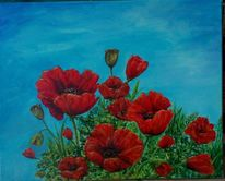 Mohnblumen, Malerei, Pflanzen, 2012