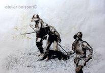 Briganten, Kampf, Mittelalter, Rüstung