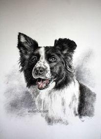 Auftragsmalerei, Tierzeichnung, Hund, Tiere