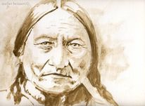 Sitting bull, Custer, Little big horn, Indianer