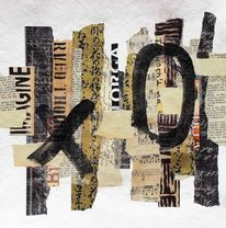 Paperwork, Ausdrucksmalerei, Abstrakte kunst, Collage