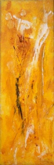 Abstrakt, Acrylmalerei, Gelb, Malerei