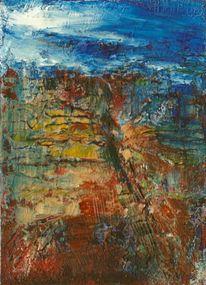 Acrylmalerei, Landschaft, Malerei, Malerei 2014