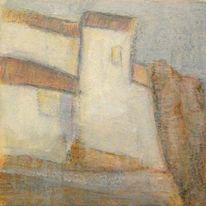 Häuser, Acrylmalerei, Malerei, Malerei 2014