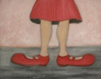 Bein, Rot, Fuß, Schuhe