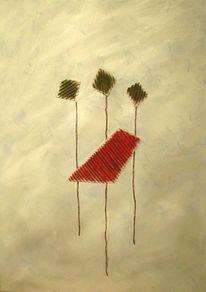 Abstrakt, Rot, Dekoration, Weiß