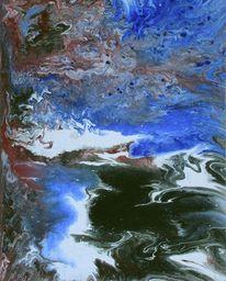 Abstrakt, Acrylmalerei, Malkarton, Malerei