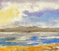 Aquarellmalerei, Landschaft, Spielerei, Aquarell
